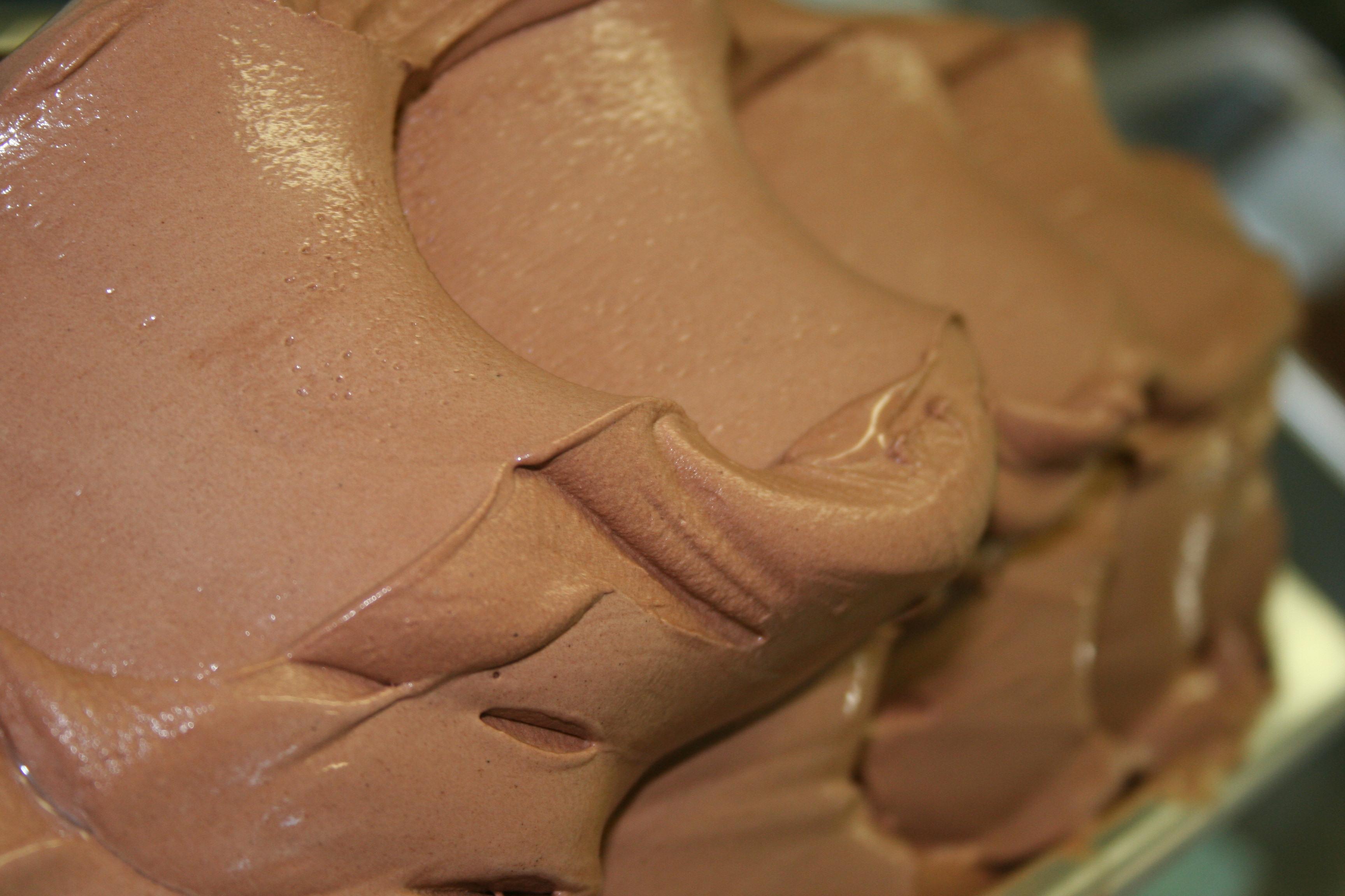 vagues de glace artisanale chocolat